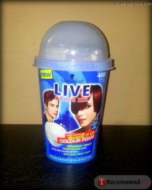 Пенка для окрашивания волос Schwarzkopf Live XXL Shake it up colour foam permanent фото